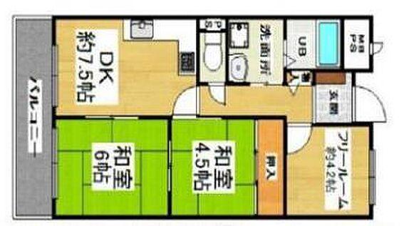 マンション(建物一部)-大阪市生野区中川2丁目 間取り