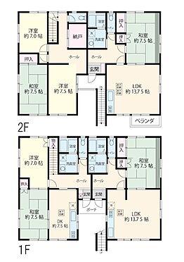 アパート-越谷市大成町2丁目 1LDK二部屋、5DK一部屋。現在満室