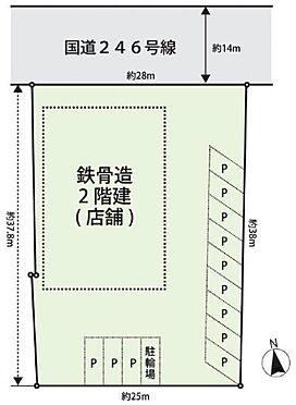 土地-秦野市沼代新町 区画図