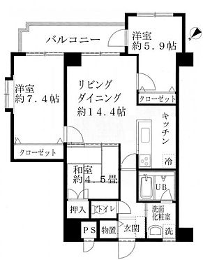 マンション(建物一部)-小松市今江町 間取り