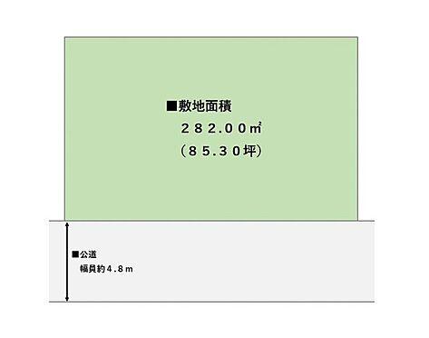 土地-仙台市太白区八木山香澄町 区画図