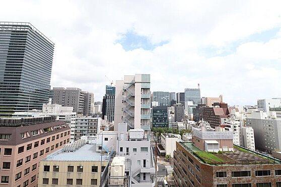 マンション(建物一部)-港区西新橋3丁目 リビングタイニング北側窓からの眺望。遮るものがなく、こちらも屋上緑化の緑を望みます。