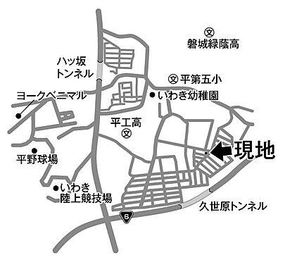 建物全部その他-いわき市平下荒川字久世原 地図