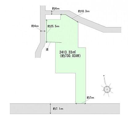 土地-黒川郡大和町吉岡字上町 区画図