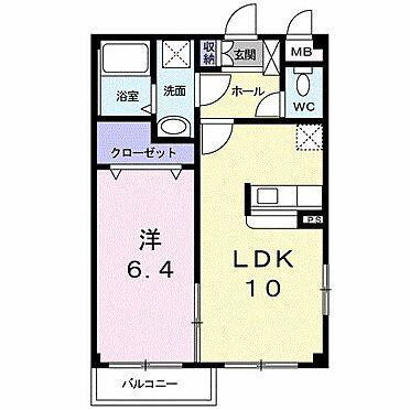 アパート-直方市大字感田 201号室