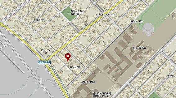 アパート-旭川市春光台二条1丁目 地図