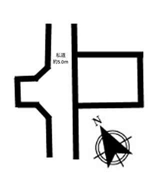 土地-三鷹市大沢5丁目 区画図