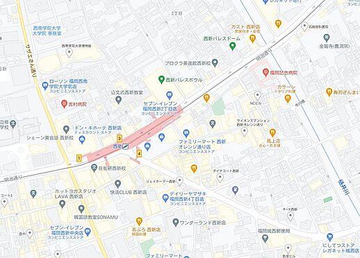マンション(建物一部)-福岡市早良区西新1丁目 地図