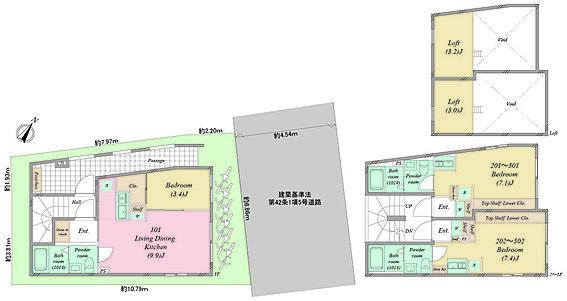 マンション(建物全部)-豊島区南大塚1丁目 全体間取図