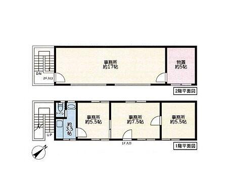 店舗事務所(建物全部)-横浜市鶴見区馬場2丁目 間取り