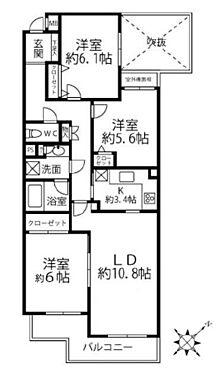 中古マンション-国分寺市東恋ヶ窪3丁目 間取り