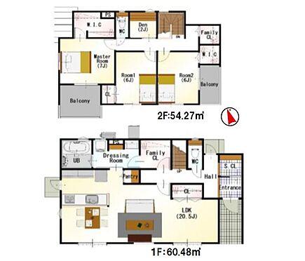 戸建賃貸-西尾市寺津町寺後 間取りは生活のしやすさを重視。家族みんなが気持ちよく過ごすための構造と使いやすい間取りを実現。