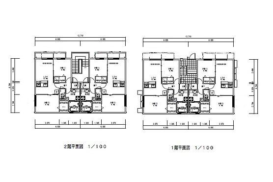 アパート-大東市北条2丁目 2LDK×4室の2階建て