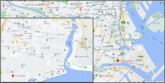 アパート-大田区羽田3丁目 地図