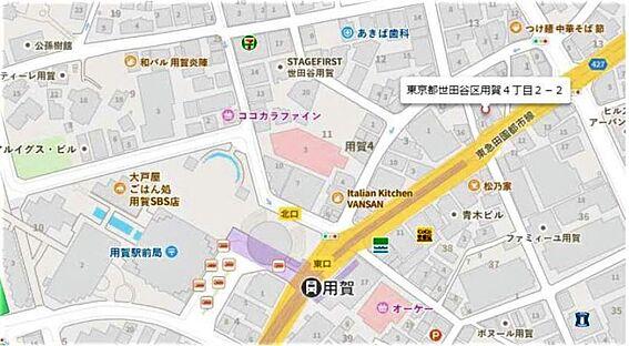 中古マンション-世田谷区用賀4丁目 地図