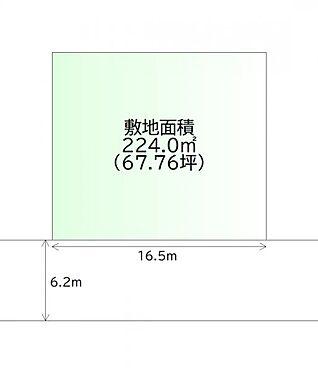 土地-仙台市青葉区新川字佐手山 区画図
