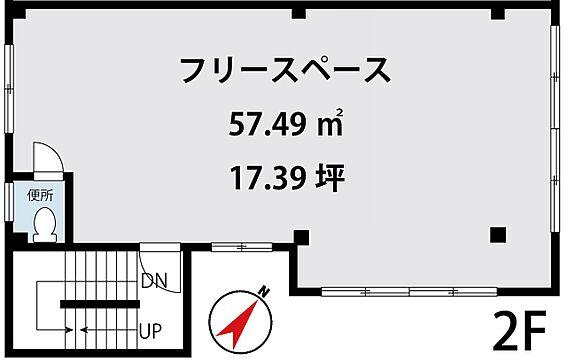 店舗事務所(建物全部)-葛飾区細田4丁目 2階 フリースペース間取り図