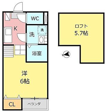 アパート-名古屋市昭和区塩付通1丁目 101号室間取り