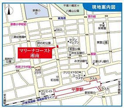 店舗事務所(建物一部)-平塚市明石町 地図