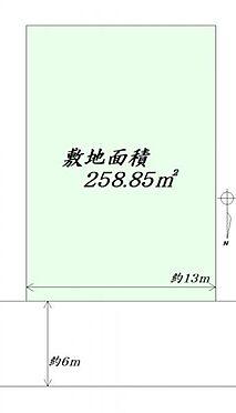土地-仙台市泉区長命ケ丘1丁目 区画図
