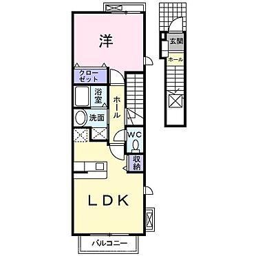 アパート-荒尾市増永 201号室間取り
