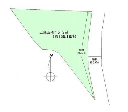 土地-仙台市太白区西多賀4丁目 区画図
