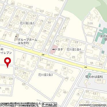 アパート-石狩市花川東二条2丁目 地図