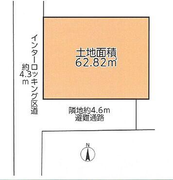 土地-杉並区高円寺南1丁目 区画図