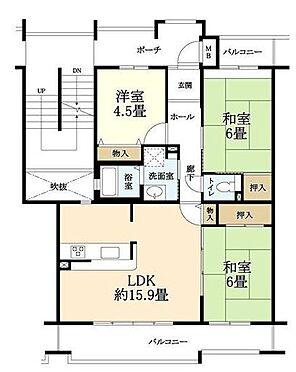 マンション(建物一部)-神戸市北区鹿の子台北町3丁目 間取り