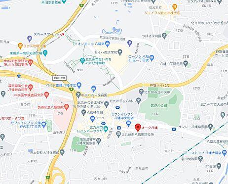 区分マンション-北九州市八幡東区中央1丁目 地図
