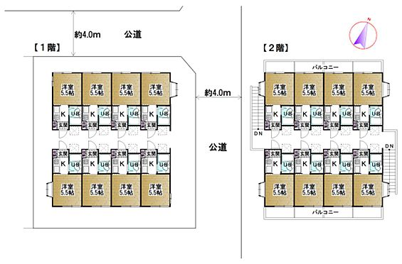 アパート-座間市相武台2丁目 ※図面と現況が異なる場合は、現況を優先とさせていただきます。