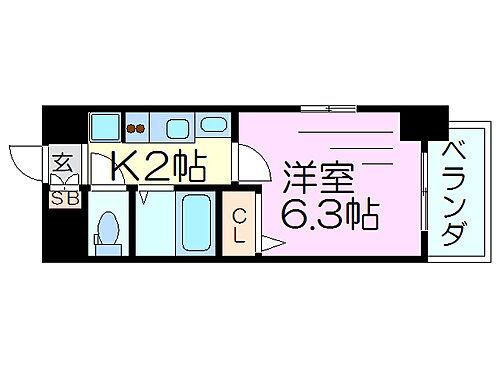 マンション(建物一部)-大阪市東淀川区西淡路1丁目 間取り