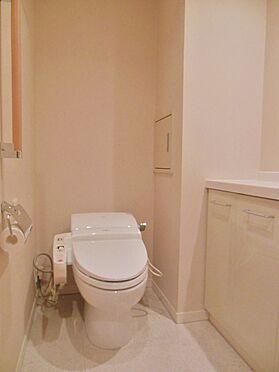 中古マンション-港区高輪1丁目 トイレには、手洗いカウンターが付いています。