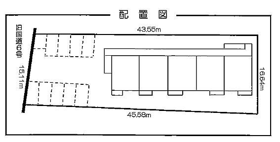 アパート-取手市宮和田 配置図
