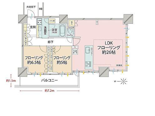 中古マンション-品川区東品川4丁目 収納たっぷりですので、収まりの良い間取りで生活はしやすく設計されています。