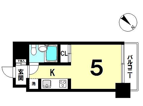 マンション(建物一部)-横須賀市汐入町1丁目 間取り