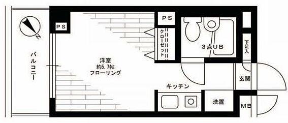 マンション(建物一部)-横浜市緑区十日市場町 間取り