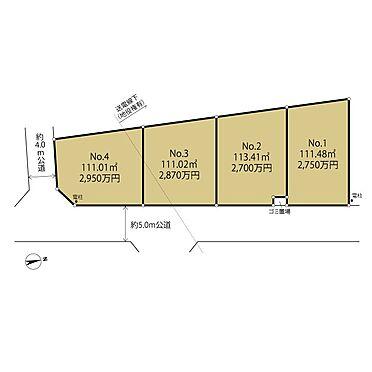 土地-相模原市緑区東橋本4丁目 区画図