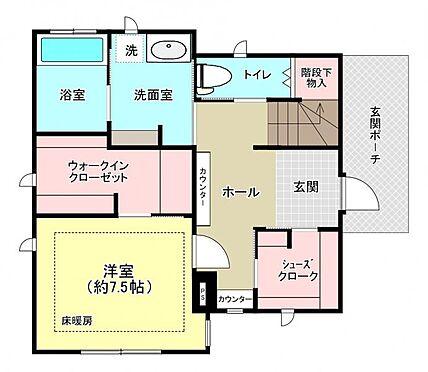 中古一戸建て-福岡市中央区平尾5丁目 1階間取り