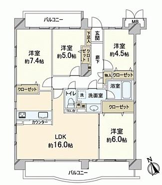 中古マンション-福岡市中央区小笹4丁目 間取り