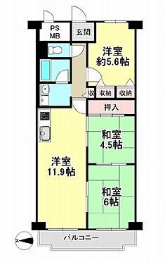 マンション(建物一部)-京都市右京区太秦安井車道町 ファミリー向け・3LDK