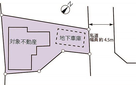 中古一戸建て-八王子市北野町 配置図