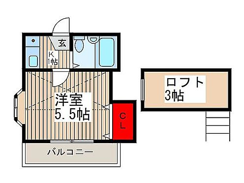 アパート-鶴ヶ島市大字下新田 間取り