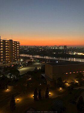 中古マンション-市川市島尻 夕日が沈む美しい景色も