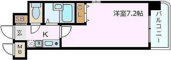 マンション(建物一部)-神戸市中央区琴ノ緒町2丁目 水回りと居室が分けられた使い勝手の良いプラン