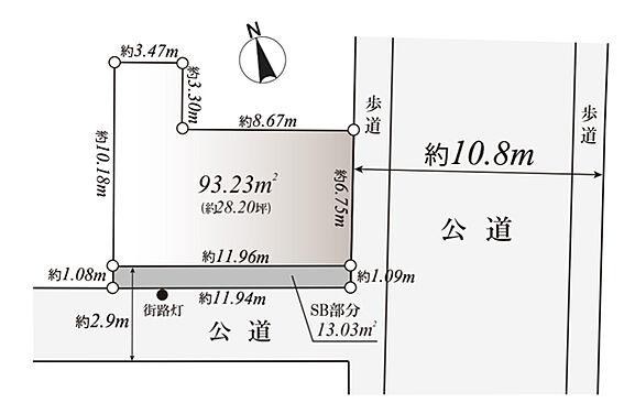 マンション(建物全部)-大田区大森北5丁目 区画図/東×南の角地となっております。