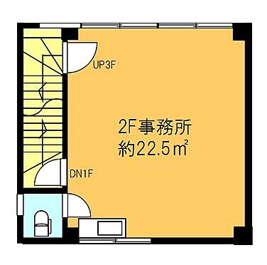 店舗事務所(建物全部)-横浜市鶴見区鶴見中央3丁目 2階 登記面積 27.00平米