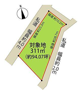 土地-伊豆の国市韮山多田 区画図