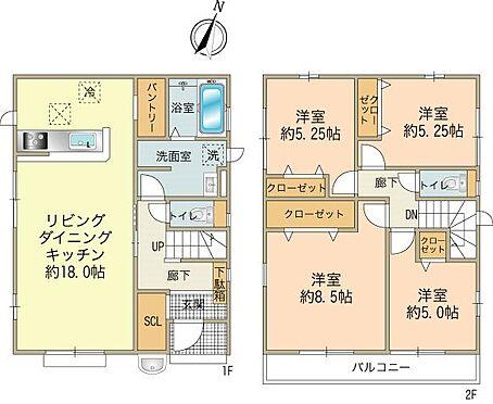 新築一戸建て-八王子市南大沢2丁目 2号棟4,380万円