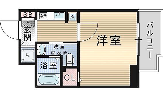 マンション(建物一部)-大阪市西区江戸堀3丁目 ひとり暮らしに使い勝手のいいアメリカンセパレート